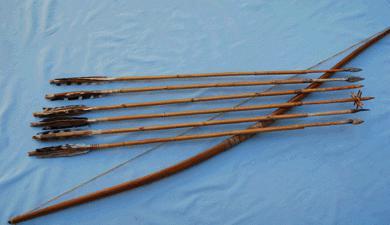Как сделать из дерева лук и стрелы 886